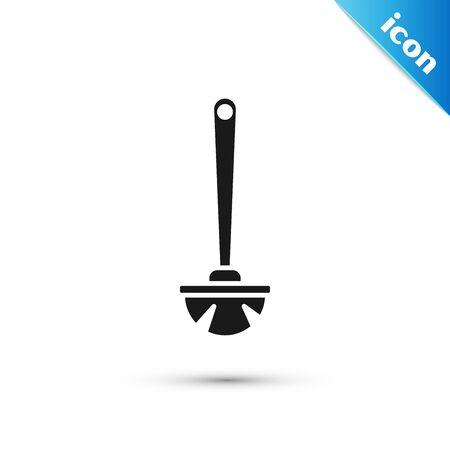 Black Toilet brush icon isolated on white background. Vector Illustration