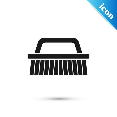 Black Brush for cleaning icon isolated on white background. Vector Illustration