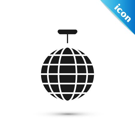 Black Disco ball icon isolated on white background. Vector Illustration