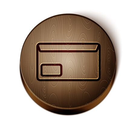 Brown line Envelope icon isolated on white background. Email message letter symbol. 일러스트