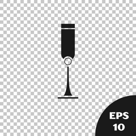 Black Jewish goblet icon isolated on transparent background. Jewish wine cup for kiddush. Kiddush cup for Shabbat. Vector Illustration Illustration