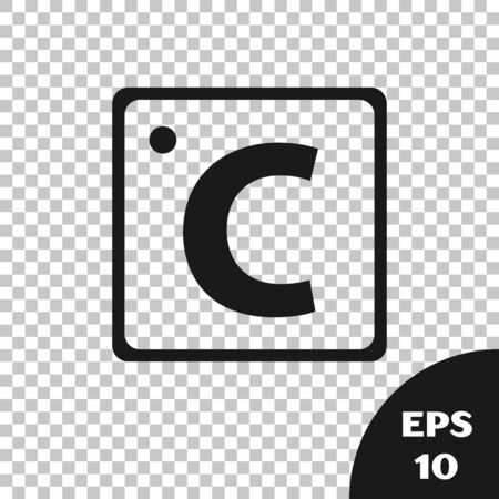 Black Celsius icon isolated on transparent background. Vector Illustration