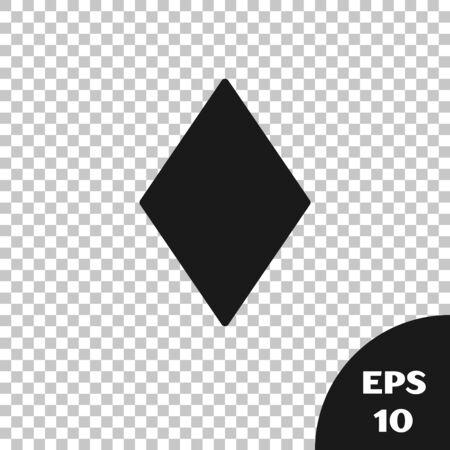 Black Playing card with diamonds symbol icon isolated on transparent background. Casino gambling. Vector Illustration Ilustração