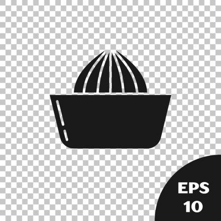 Black Citrus fruit juicer icon isolated on transparent background. Vector Illustration Illustration