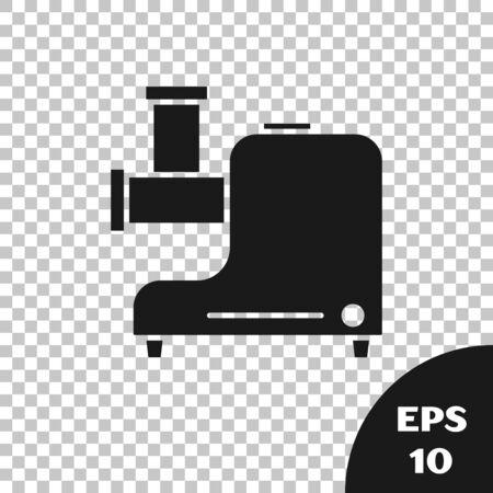 Black Kitchen meat grinder icon isolated on transparent background. Vector Illustration