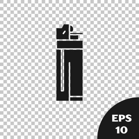 Black Lighter icon isolated on transparent background. Vector Illustration Stock fotó - 131335938