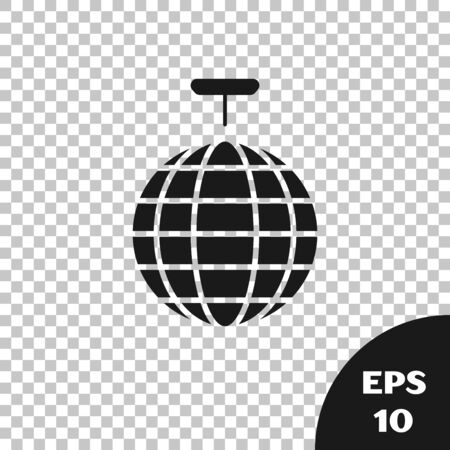 Black Disco ball icon isolated on transparent background. Vector Illustration Banque d'images - 131335947