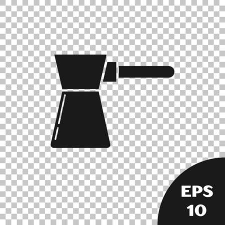 Black Coffee turk icon isolated on transparent background. Vector Illustration