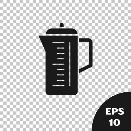 Black Teapot icon isolated on transparent background. Vector Illustration  イラスト・ベクター素材