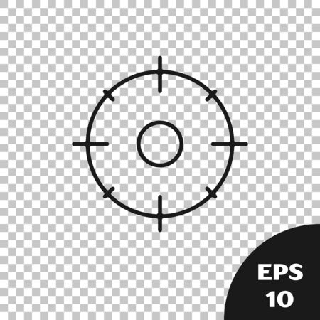 Black Target sport for shooting competition icon isolated on transparent background. Clean target with numbers for shooting range or shooting. Vector Illustration Ilustrace