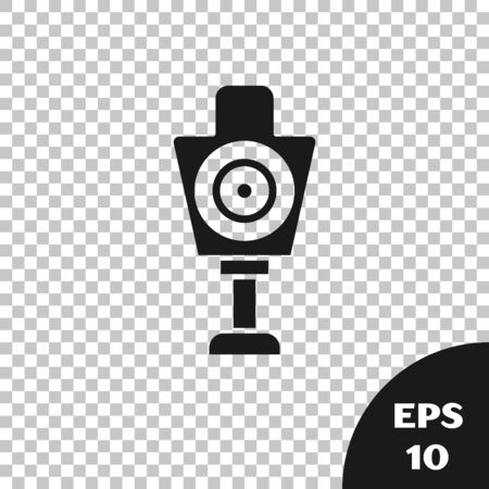 Black Human target sport for shooting icon isolated on transparent background. Clean target with numbers for shooting range or shooting. Vector Illustration Ilustrace