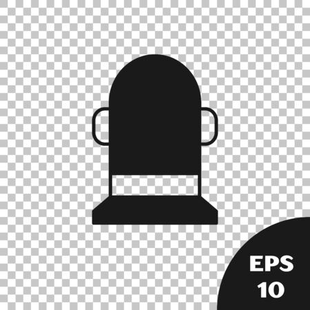Black Buoy icon isolated on transparent background. Vector Illustration 向量圖像