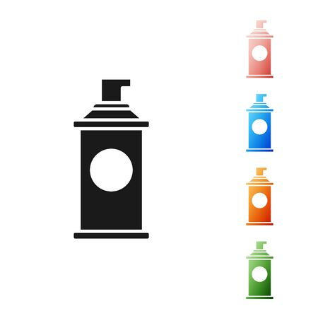 Black Shaving gel foam icon isolated on white background. Shaving cream. Set icons colorful. Vector Illustration