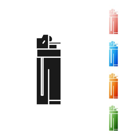 Black Lighter icon isolated on white background. Set icons colorful. Vector Illustration Stock fotó - 131390213