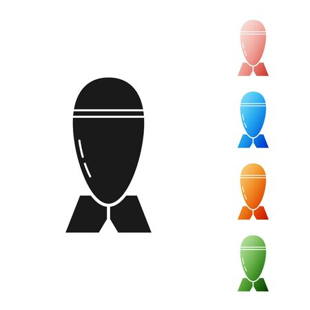 Black Aviation bomb icon isolated on white background. Rocket bomb flies down. Set icons colorful. Vector Illustration