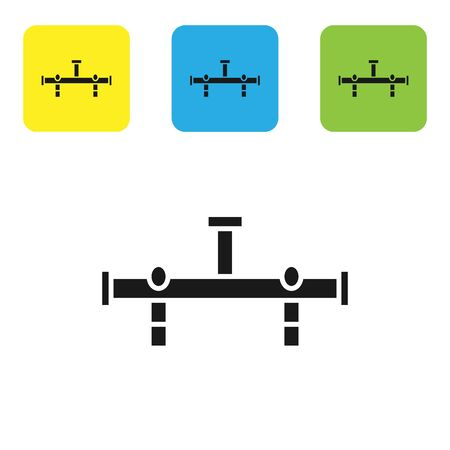 Black Manifold icon isolated on white background. Set icons colorful square buttons. Vector Illustration