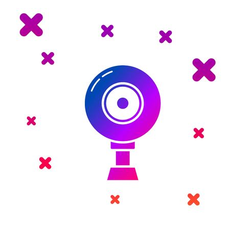 Color Web camera icon isolated on white background. Chat camera. Webcam icon. Gradient random dynamic shapes. Vector Illustration Illustration