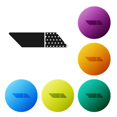 Black Eraser or rubber icon isolated on white background. Set icons colorful circle buttons. Vector Illustration Zdjęcie Seryjne - 132056074