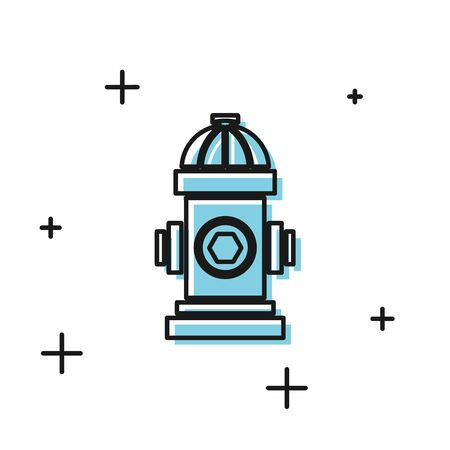 Black Fire hydrant icon isolated on white background. Vector Illustration Illustration