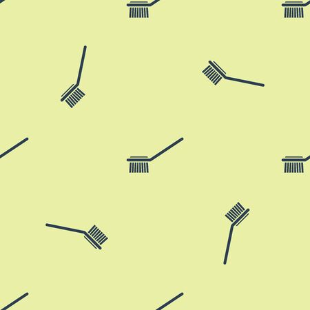Blue Toilet brush icon isolated seamless pattern on yellow background. Vector Illustration Ilustrace