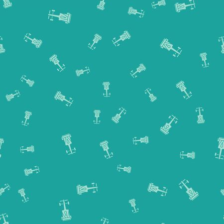 Green Formula race car icon isolated seamless pattern on green background. Vector Illustration Banque d'images - 133187084