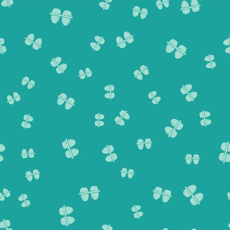 Green Chicken egg in box icon isolated seamless pattern on green background. Vector Illustration  イラスト・ベクター素材