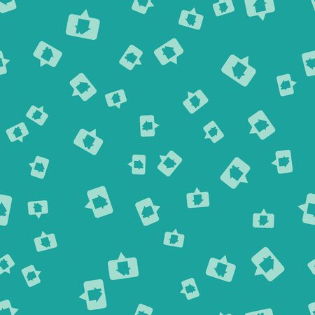 Green Map pointer with house icon isolated seamless pattern on green background. Home location marker symbol. Vector Illustration