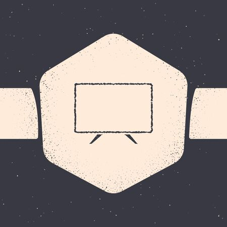 Grunge Smart Tv icon isolated on grey background. Television sign. Monochrome vintage drawing. Vector Illustration