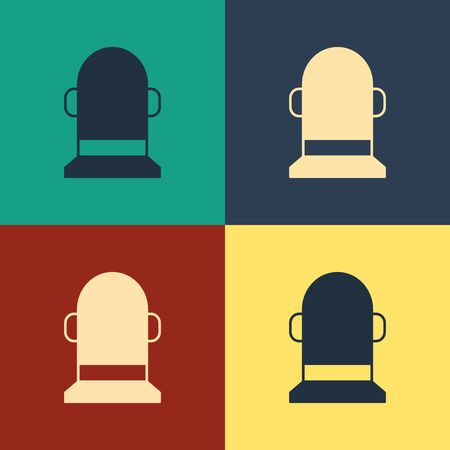 Color Buoy icon isolated on color background. Vintage style drawing. Vector Illustration