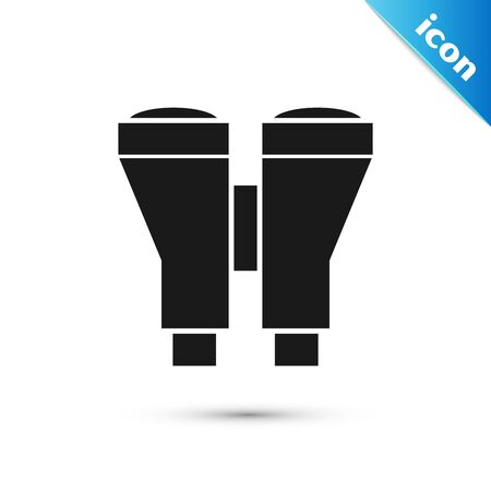 Black Binoculars icon isolated on white background. Find software sign. Spy equipment symbol. Vector Illustration 일러스트