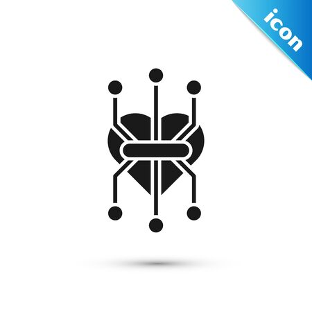 Black Processor icon isolated on white background. CPU, central processing unit, microchip, microcircuit, computer processor, chip. Vector Illustration Illustration
