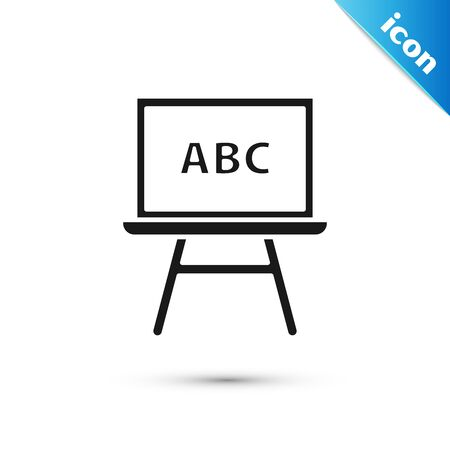 Black Chalkboard icon isolated on white background. School Blackboard sign. Vector Illustration