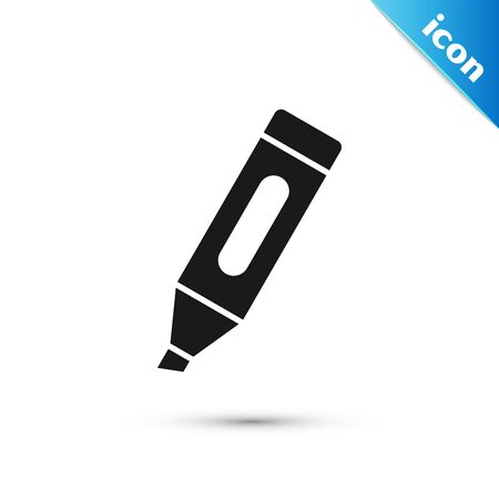 Black Marker pen icon isolated on white background. Vector Illustration