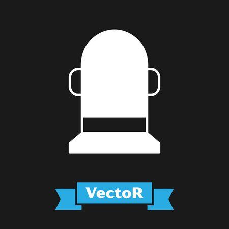 White Buoy icon isolated on black background. Vector Illustration