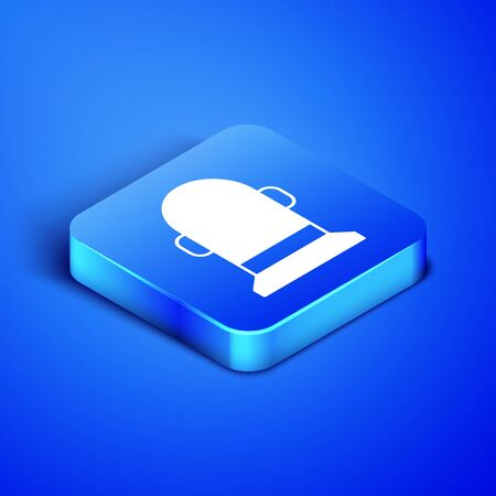 Isometric Buoy icon isolated on blue background. Blue square button. Vector Illustration Иллюстрация