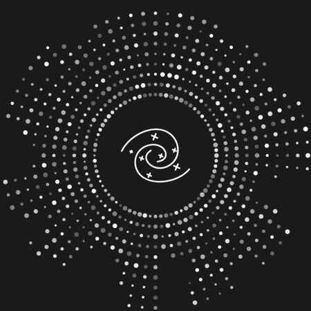 White Black hole icon isolated on grey background. Space hole. Collapsar. Abstract circle random dots. Vector Illustration 向量圖像