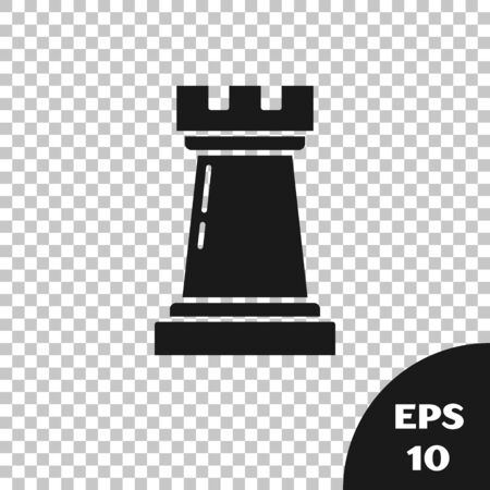 Black Business strategy icon isolated on transparent background. Chess symbol. Game, management, finance. Vector Illustration