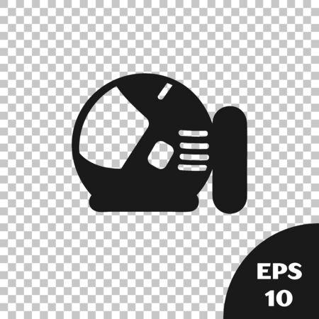 Black Astronaut helmet icon isolated on transparent background. Vector Illustration  イラスト・ベクター素材