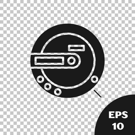 Black Music CD player icon isolated on transparent background. Portable music device. Vector Illustration Фото со стока - 133665491