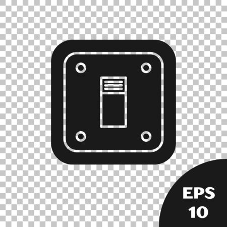Black Electric light switch icon isolated on transparent background. On and Off icon. Dimmer light switch sign. Concept of energy saving. Vector Illustration