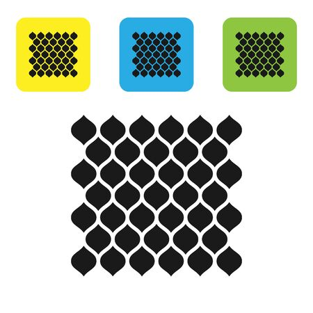 Black Garden fence wooden icon isolated on white background. Set icons colorful square buttons. Vector Illustration