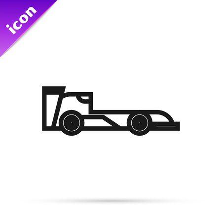 Black line Formula race car icon isolated on white background. Vector Illustration Illusztráció