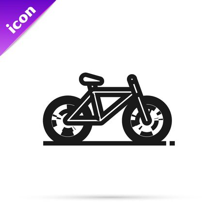Black line Bicycle icon isolated on white background. Bike race. Extreme sport. Sport equipment. Vector Illustration Illusztráció