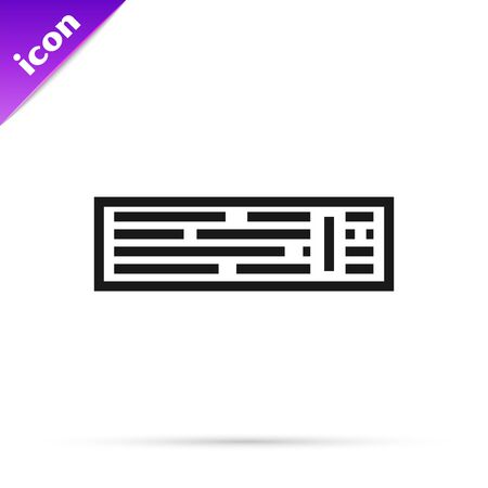 Black line Deck of playing cards icon isolated on white background. Casino gambling. Vector Illustration 스톡 콘텐츠 - 133791200