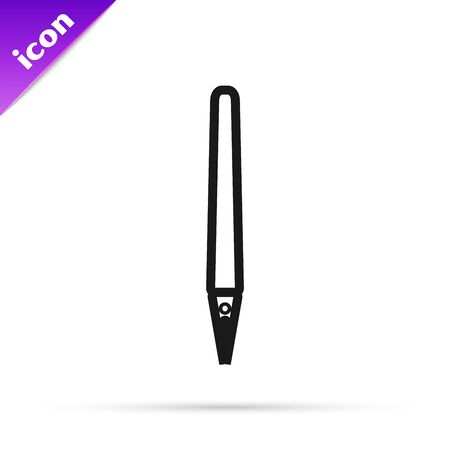 Black line Pen icon isolated on white background. Vector Illustration 写真素材 - 133791269