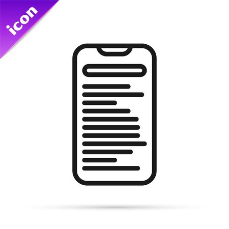 Black line Computer api interface icon isolated on white background. Application programming interface API technology. Software integration. Vector Illustration