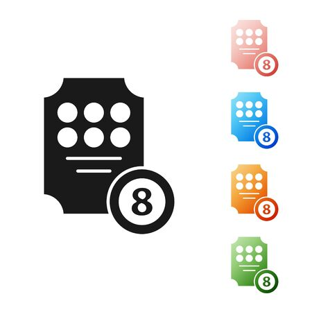 Black Online slot machine icon isolated on white background. Online casino. Set icons colorful. Vector Illustration