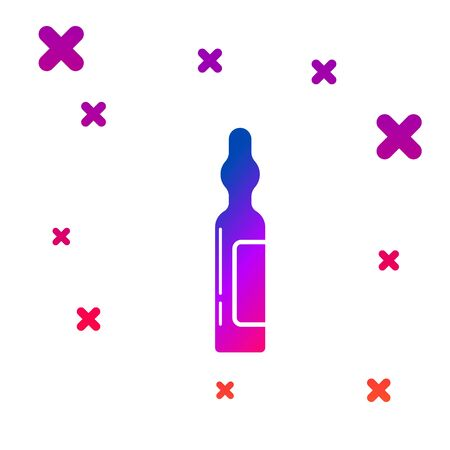 Color Pets vial medical icon isolated on white background. Prescription medicine for animal. Gradient random dynamic shapes. Vector Illustration