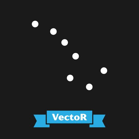 White Great Bear constellation icon isolated on black background.  Vector Illustration Illustration