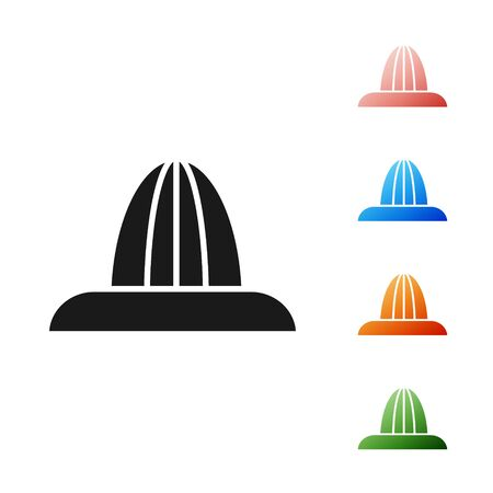 Black Citrus fruit juicer icon isolated on white background. Set icons colorful. Vector Illustration